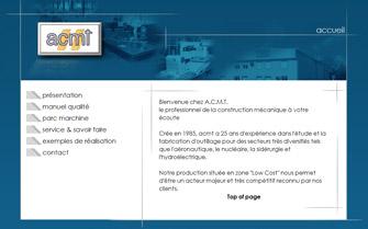 Refonte du site acmt-industries.com