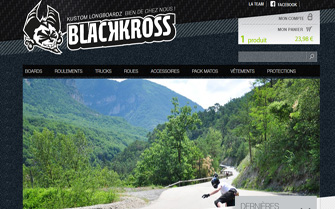 Refonte du site e-commerce Blackkross.com