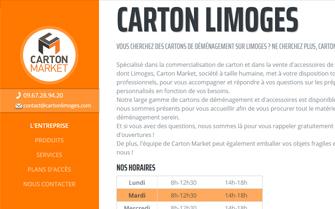 Cr�ation du site Internet Carton Limoges