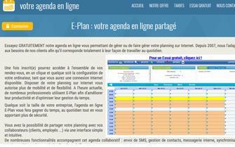 E-Plan, Agenda en ligne
