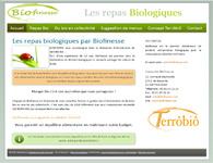 Mini site vitrine sur les repas biologiques
